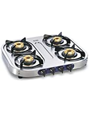Glen 4 Burner Gas Stove 1044 SS BB Cooktop with Modern Soft