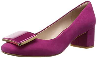 Clarks  Chinaberry Fun, Chaussures à talons - Avant du pieds couvert femme - Rose - Pink (Fuchsia Nubuck), 36
