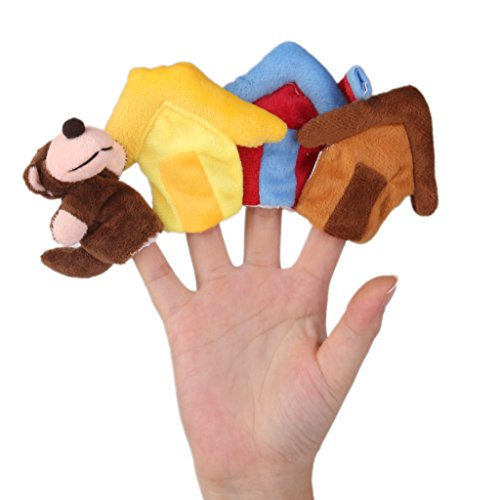 2pcs Juguete Educativo Marioneta Mano Títeres Dedos