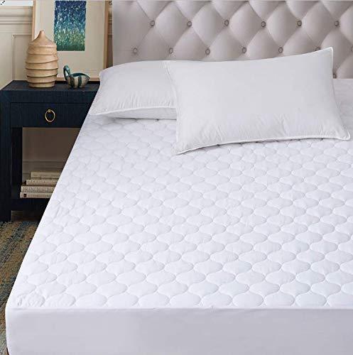 Hani Minna Premium Gesteppte Matratzenschoner aus natürlicher gekämmter Baumwolle - kühlende und atmungsaktive Matratzenauflage Full (54