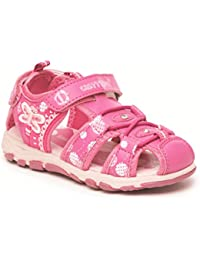 Girls Pink Chatterbox Correa de Velcro acolchada Aventura De Verano Sandalias