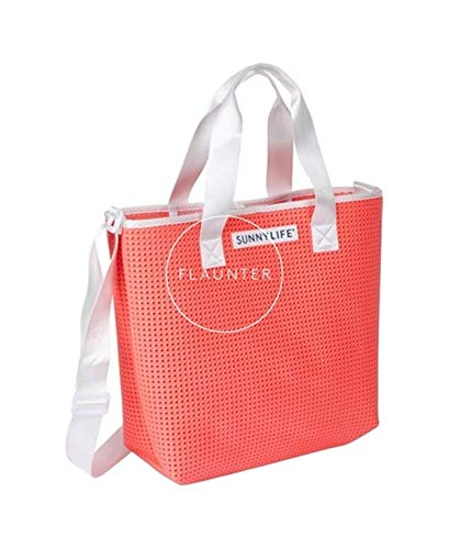Sunnylife Refresh Tote Bag Neon Coral Beach Bag One Size Neon Coral (Coral Tote Bag)