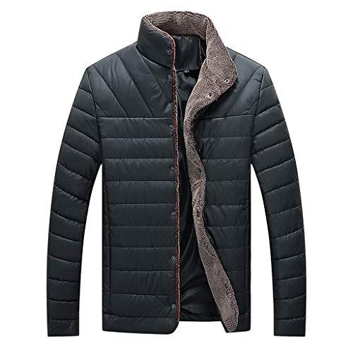 Aoogo Herren Winter Jacke Steppjacke Winterjacke gefüttert mit Stehkragen Männer Casual Winter Solide Warme Taste Langarm Jacke Mantel Outwear Tops