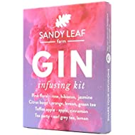 Gin Infusing Kit - Perfect Gift for a Gin Lover - Infuses 1.4L of Gin with Four Artisan Spice and Tea Blends