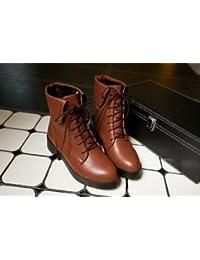 &ZHOU Unisex-adultos 'Botas de otoño y botas de invierno Martin botas Knight , brown , 35