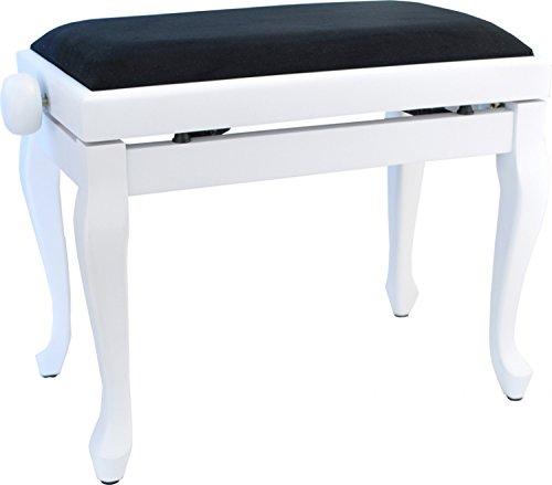 Steinbach Klavierbank in Weiß matt mit Chippendale Beinen