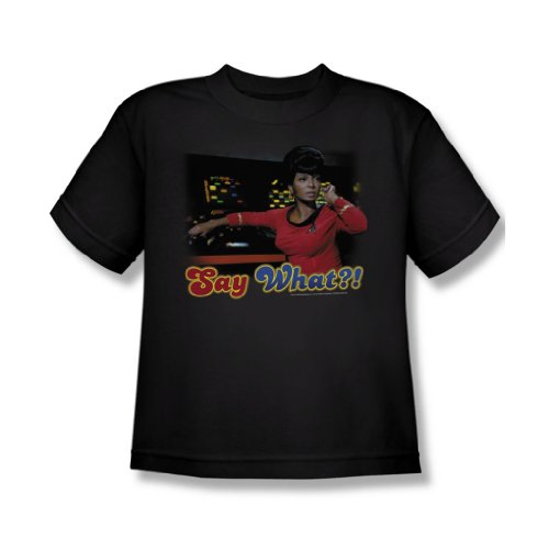 Star Trek - Sagen Sie, was - Jugend Schwarz Kurzarm T-Shirt für Jungen Black