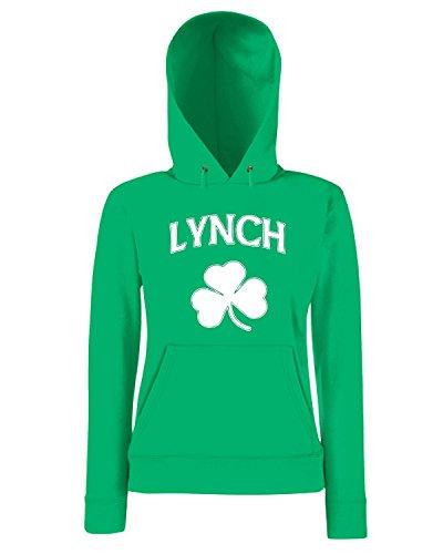 T-Shirtshock - Sweatshirt a capuche Femme TIR0143 lynch irish dark tshirt Vert