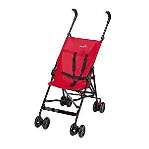 Safety 1st Peps Lightweight Buggy, Plain Red Familidoo Multi position adjustable backrest recline Detachable handle bar/bumper  Suitable from birth 7