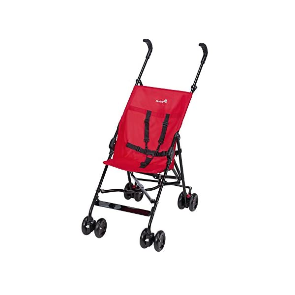 Safety 1st Peps Lightweight Buggy, Plain Red  Lightweight, only weighing 4.5kg so it's easy to carry Suspension on front wheels for a smooth ride Highly manoeuvrable with the swivelling front wheels 1
