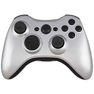 Xbox 360 Wireless Controller - Matte Metallic Silver with Black Buttons