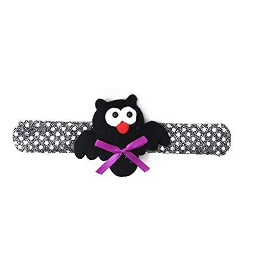 Glühende Dekor Pat Kreis-Handring-Band-Halloween-Party-Cartoon-Kürbis-Armband Armband