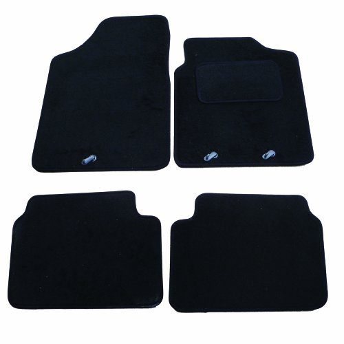 with Heel Pad Perfect Fit Black Carpet Car Floor Mats for Nissan Qashqai 07-13
