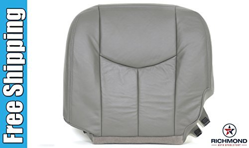 2006-gmc-sierra-3500-slt-sle-driver-side-bottom-replacement-leather-seat-cover-gray-by-richmond-auto