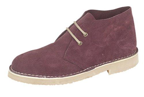Roamers ,  Unisex - Erwachsene Desert Boots Rot (Burgunderrot)