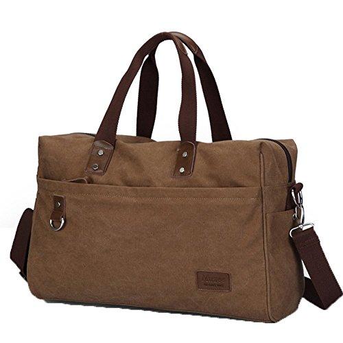 Everdoss Hommes sac à main en toile sac de messager sac à bandoulière sac d'épaule sac de voyage loisirs