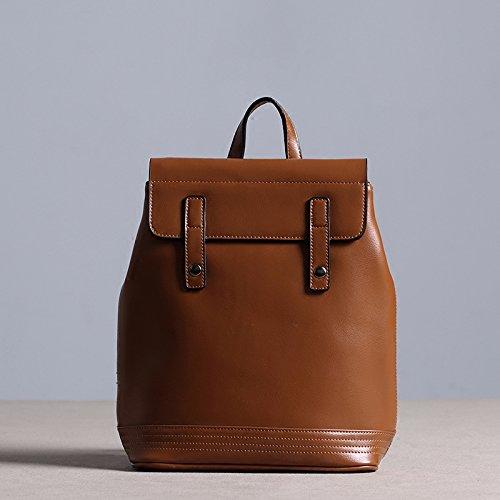 cd78f0ee5f Sprnb Zaino in pelle donna borsa a tracolla e borsa in cuoio, marrone Brown