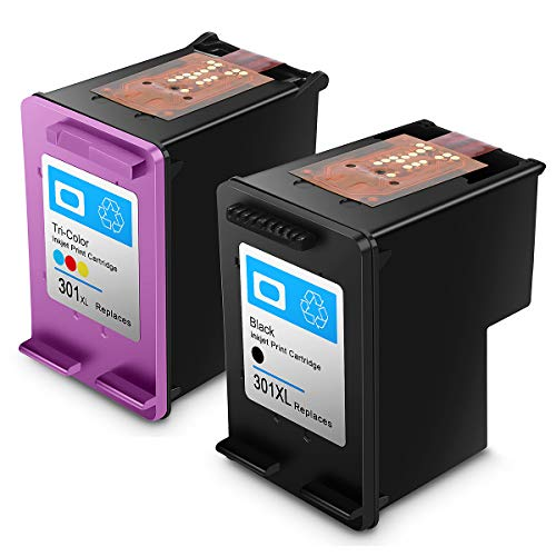 HP 301 Regenerated Ink Cartridge HP301 XL High Performance Ink Cartridges (1 Black, 1 Tricolor)