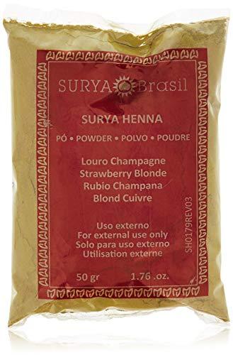 Henna Strawberry (Surya Henna, Natural Hair Coloring und Hair Treatment Powder, Strawberry Blonde, 1,76 Unzen (50 g))