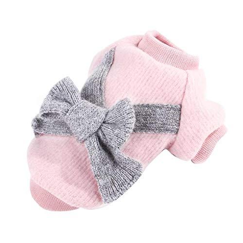 Morza Flannelette Bowtie Haustier-Teddy-Mantel-Welpen Zwei Füße Bogen Kleidung -