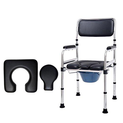 Chaise de Commode âgée Siège de toilette enceinte Siège de chaise pliable Chaise de bain handicapé