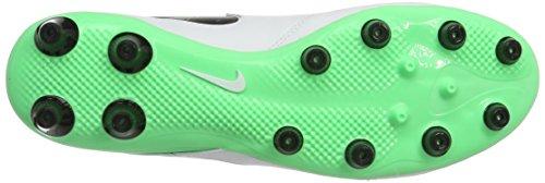 adidas Tiempo Genio.Ii Leather Ag-Pro, Scarpe per Allenamento Calcio Uomo Bianco (White/black-electro Green)