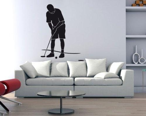 Wandtattoo Golfer Golfspieler beim Abschlag #175C braun 120cm x 156cm (RAL8017) VERSANDKOSTENFREI! -