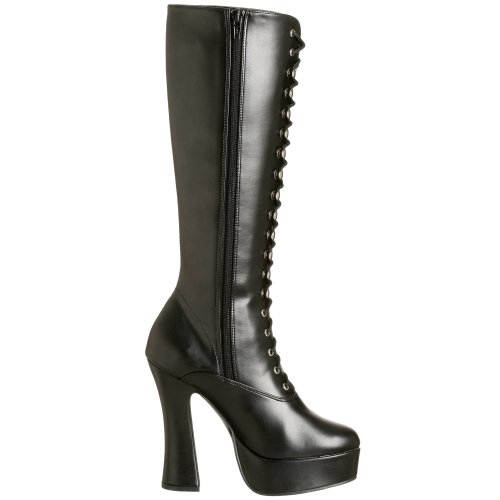 Pleaser Eu-Ele2020/B/Pu, bottes femme Blk Faux Leather