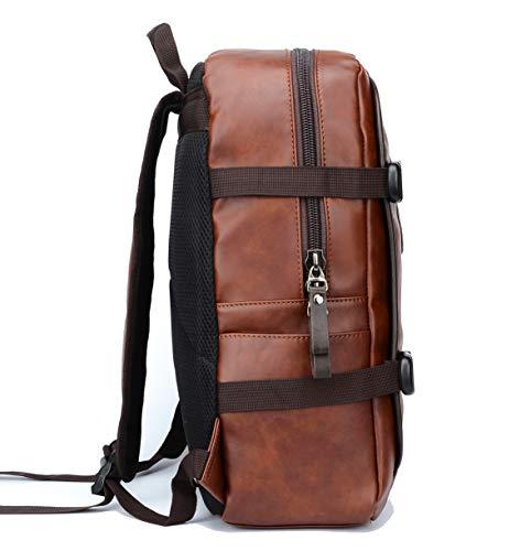 Best Fur Jaden Brown Backpack Bag for Men of Artificial Leather with Laptop Pocket Online 2020 Image 5