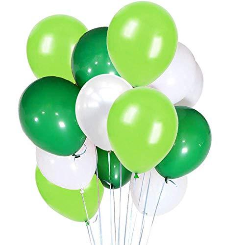 Erosion 10 Zoll weiße hellgrüne dunkelgrüne Latex-Ballons, 100 Anzahl, für Hochzeits-Geburtstagsfeier-Babyparty-Dekoration