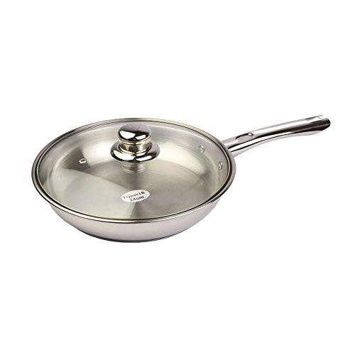 Tuffware Stainless Steel Fry Pan with Lid - Induction Friendly 2.5 Litres  available at amazon for Rs.748