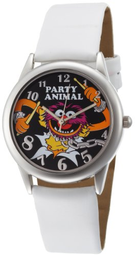 Disney Muppets Women's MU1008 Animal Black Dial White Strap Watch image