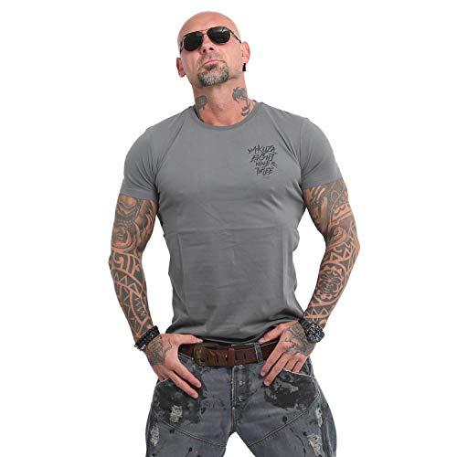 Yakuza Herren Basic Line 4W T-Shirt (T-shirt Über Line)