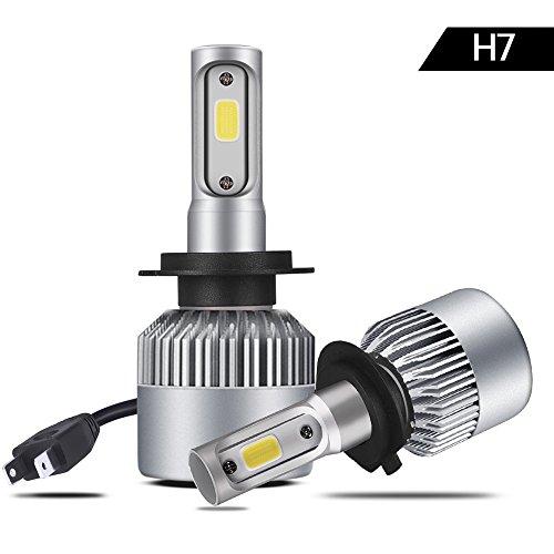 VIGOREA S2 H7 LED AutoLicht Scheinwerferlampe Birnen, Super Hell LED Autoscheinwerfer Umbausatz KFZ Lampe für Auto / KFZ / Fahrzeug Ersetzt Halogen & HID Birne Lampen Test