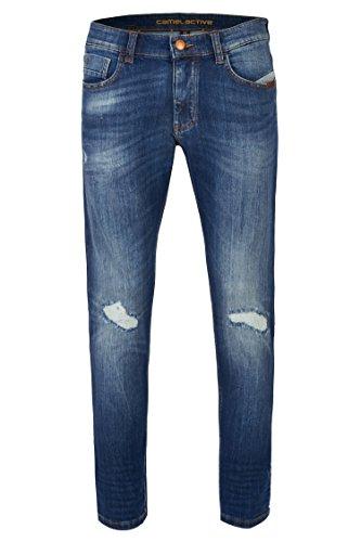 camel active Herren Slim Jeans STONE BLUE + DESTROY