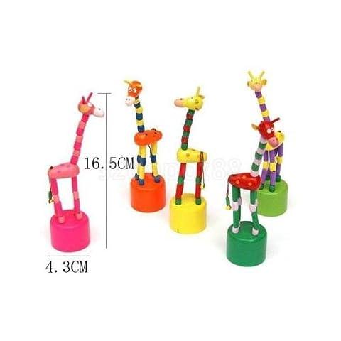 Baby Kids Child Wooden Developmental Dancing Standing Rocking Giraffe Toy