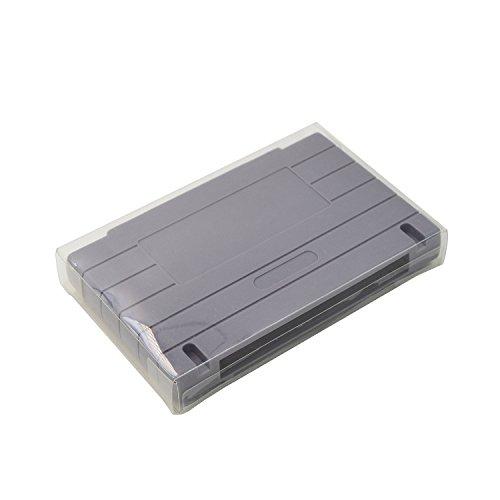 10PCS Kratzfest Boxen klar Kunststoff Hülle Case Tasche für Nintendo SNES (Super NES) Spiel Kartusche Schutz Cover