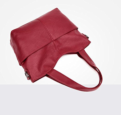 DHFUD Damenmode Tragbare Schulter Messenger Bag Purple