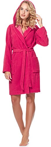 Merry Style Damen Bambusfasern Bademantel MSLL1004 Coral/Hellrosa(2134)