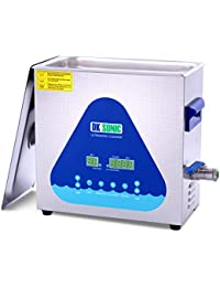 Professional Ultrasonic Cleaner - DK SONIC 6L 180W 28/40KHz Sonic Cleaner with Heater Basket Digital Timer for Jewelry,Ring,Eyeglasses,Denture,Watchband,Coins,Metal Parts,Record,Circuit Board etc