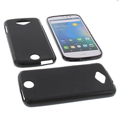 foto-kontor Tasche für Acer Liquid Z530 Liquid M530 Gummi TPU Schutz Hülle Handytasche schwarz