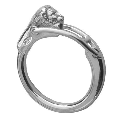 Schlüsselanhänger Löwe D 4 cm aus 925 Silber Sterling. Ansprechendes und zeitloses Design Premium (Schlüsselanhänger Sterling)