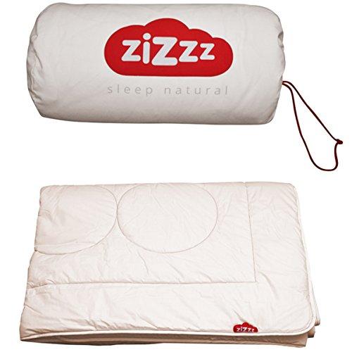 zizzz 4 Jahreszeiten Bettdecke 220x240 cm - Atmungsaktiv und Unglaublich weich - Natur Decke mit Swisswool Füllung (290G/M2) - Hochwertiges Duvet für Das Ganze Jahr