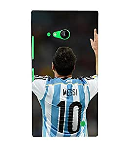 Takkloo Sportsman footballer,player playing football, Sport for everyone, A famous sportsman, amazing picture of a footballer) Printed Designer Back Case Cover for Nokia Lumia 730 Dual SIM :: Nokia Lumia 730 Dual SIM RM-1040
