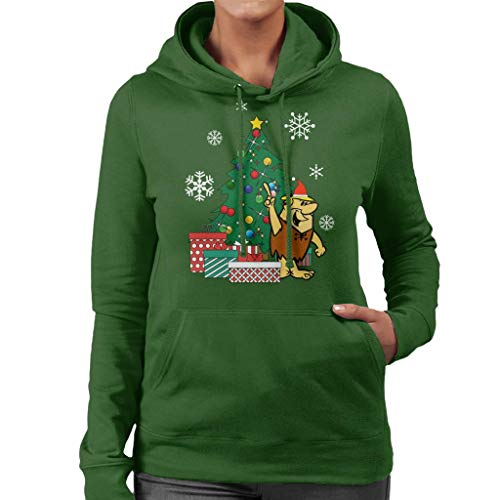 Cloud City 7 Barney Rubble Around The Christmas Tree Women's Hooded Sweatshirt -