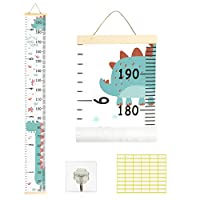 Matogle Hanging Measurement Ruler Nursery Height Chart Wall Decor with Dinosaur Cartoon Pattern for Baby Children Kids Teenager Growth Record Bedroom Playroom Kinergarten Living Room Wall Door