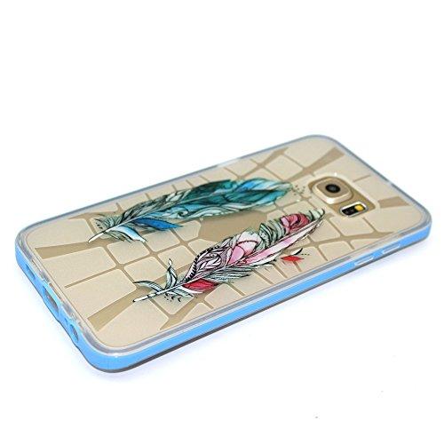 Voguecase® Per Apple iPhone 6/6S 4.7, Custodia Silicone Nottilucenti Morbido Flessibile TPU Custodia Case Cover Protettivo Skin Caso (pianoforte) Con Stilo Penna rosso e blu piuma