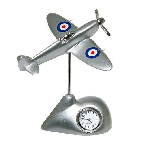 WID - Flying Spitfire Horloge dans une boîte de cadeau libre gravé personnalisé