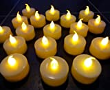 #9: Wilson Trading 12 Flameless Tea Light Candles/ Led Candles / Party candles (White (Natural Flame))
