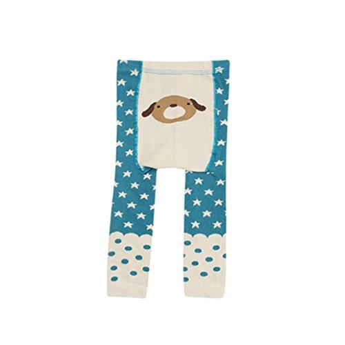 Omiky® Mode Kinder Baby Jungen Mädchen Leggings Wärmer Baumwolle PP Hosen Hosen Kleider (M/3Jahr, Blau)